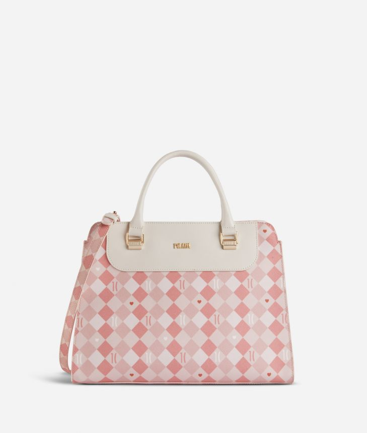 1C Love Handbag Pink,front