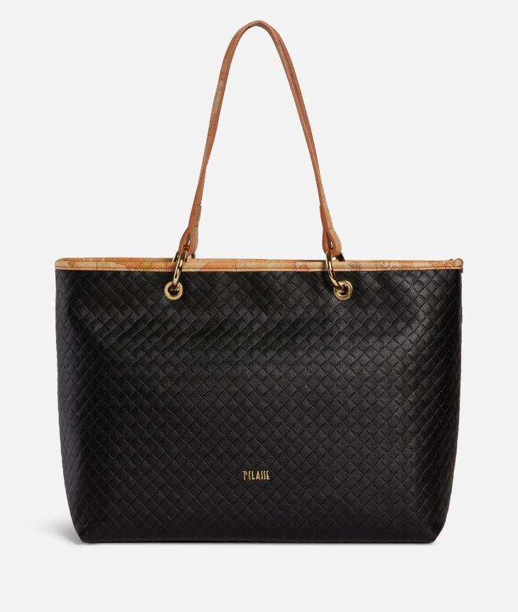 Beverly Shopping Bag Black,front