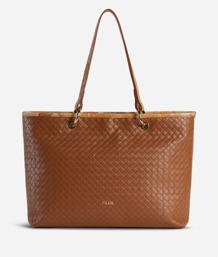 Beverly Shopping Bag Brown,front