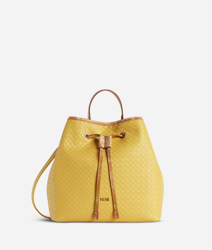 Beverly Bucket Bag Yellow,front