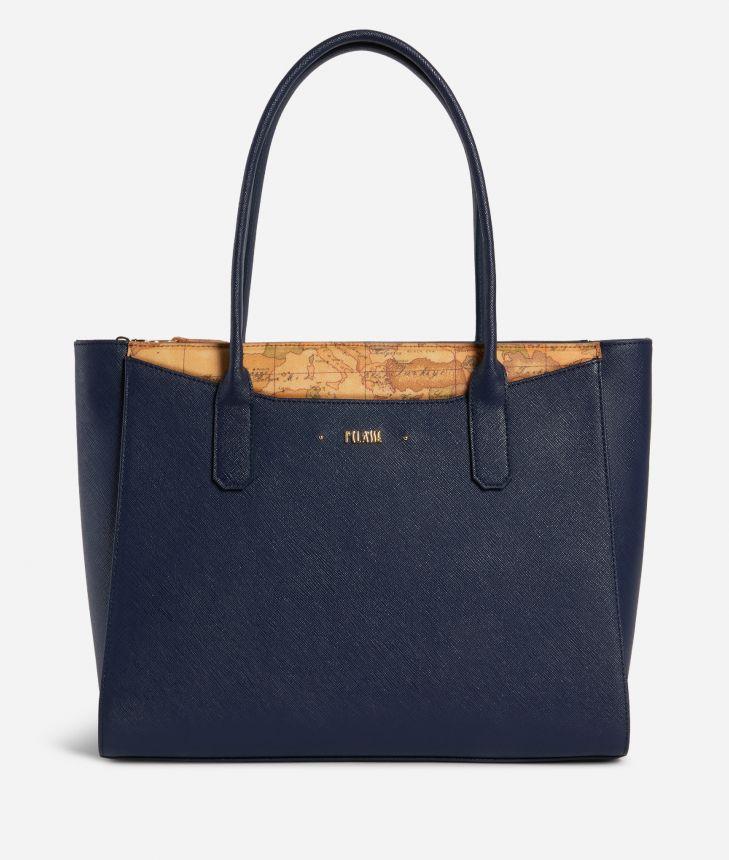 Star City Big shopping bag Blue,front