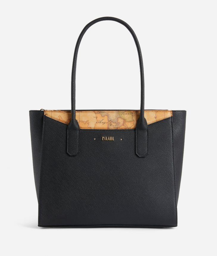 Star City Medium shopping bag Black,front