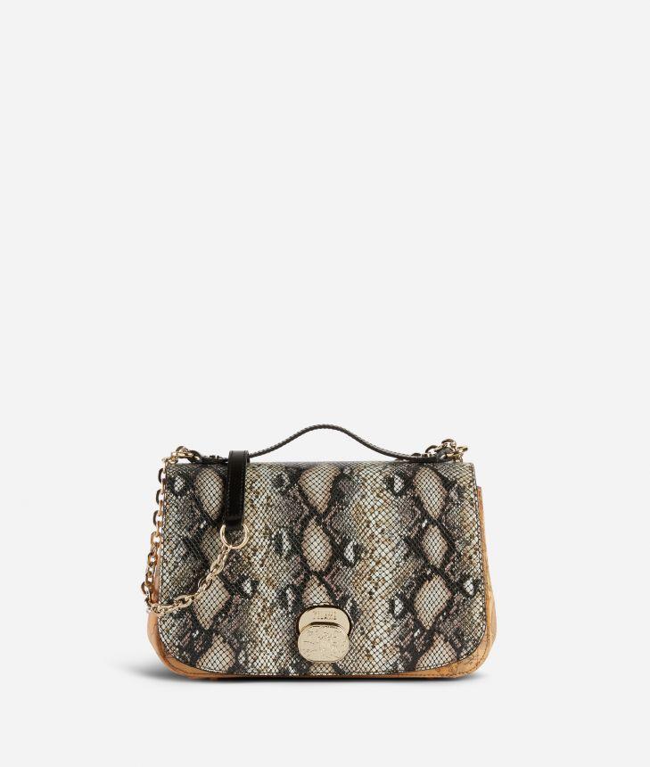 Lady Bag Crossbody bag in Geo Classic print fabric,front