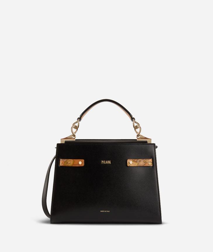 Diva Bag Handbag in smooth cowhide leather Black,front
