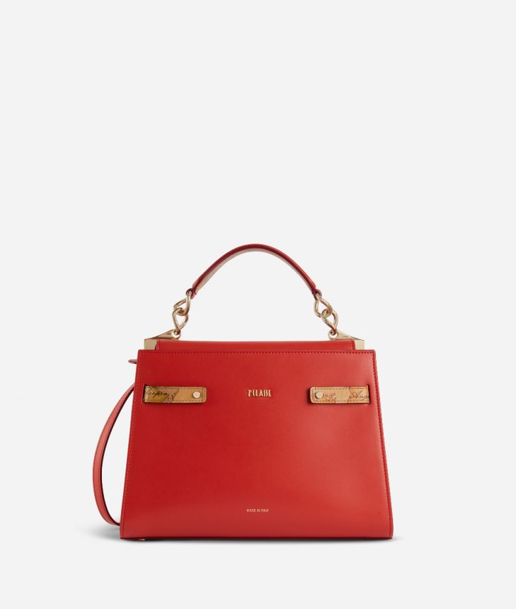 Diva Bag Handbag in smooth cowhide leather Red,front