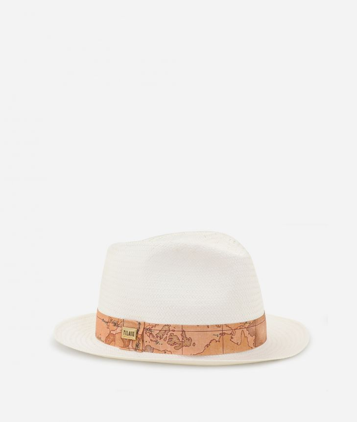 Casual Hat with Geo Classic detail White,front