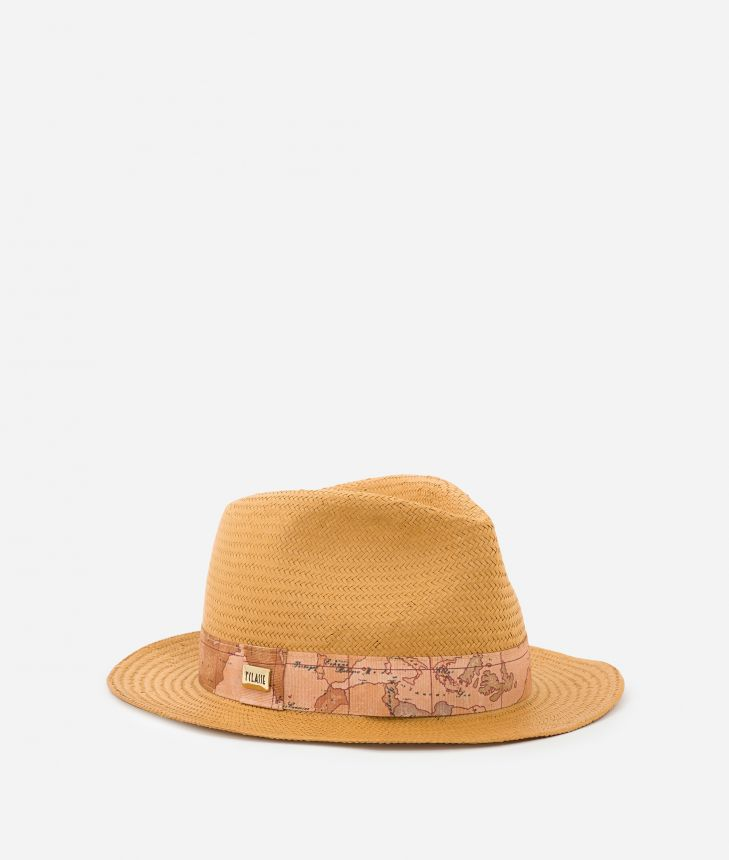 Casual Hat with Geo Classic detail Yellow,front