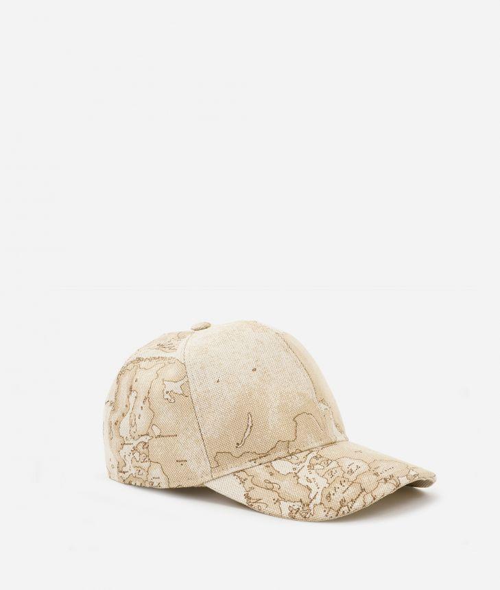 Baseball cap in Geo Safarin print linen blend,front