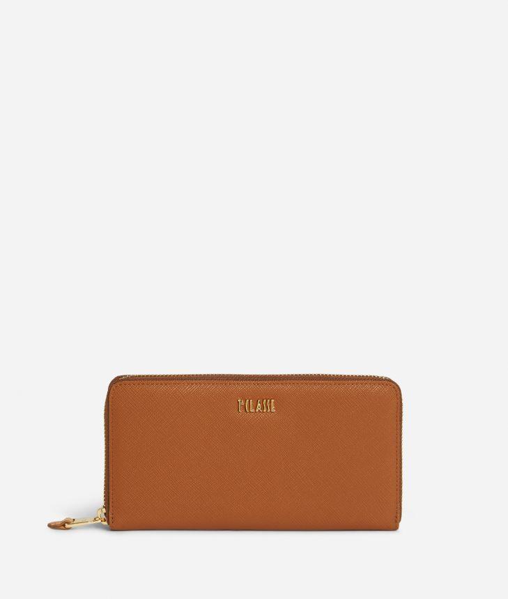 Star City Ziparound wallet Brown,front