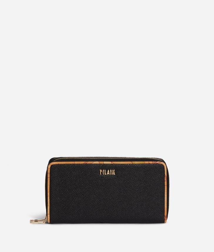 Dream Way Double ziparound wallet Black,front