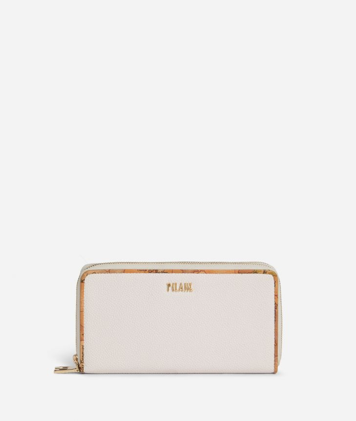 Dream Way Double ziparound wallet White,front