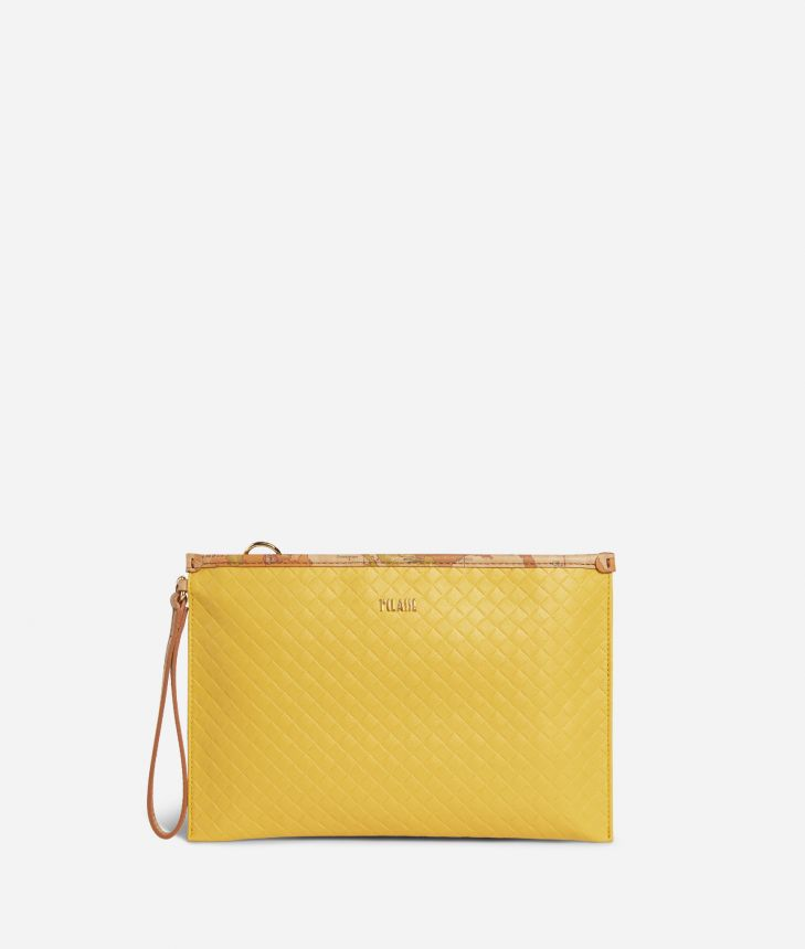Beverly Clutch Yellow,front