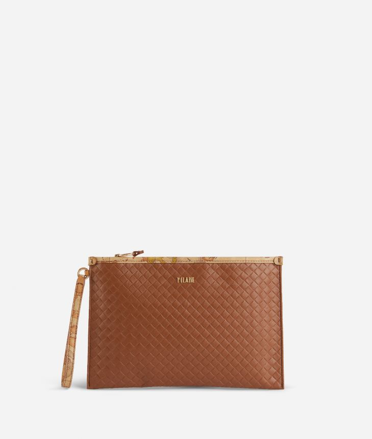 Beverly Clutch Marrone,front