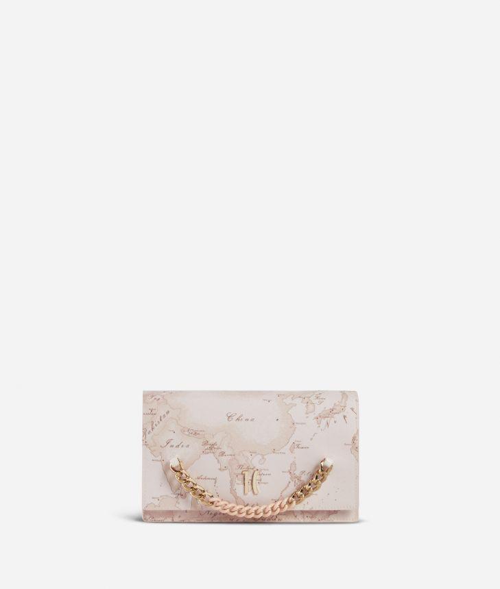 Geo Nude Clutch bag Pink,front