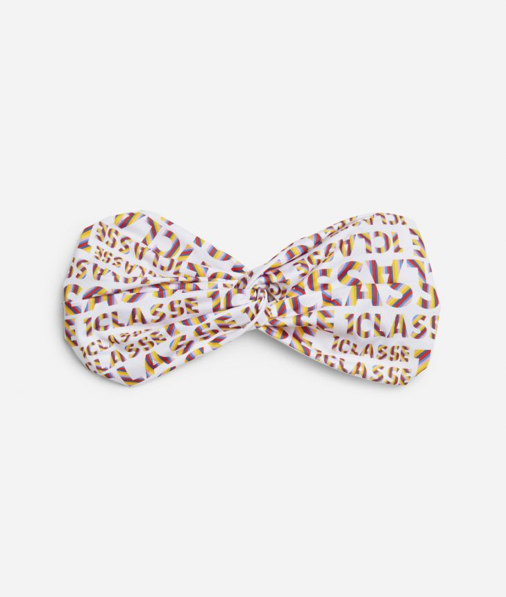 Logo Power Hairband with all-over 1a Classe logo print White,front
