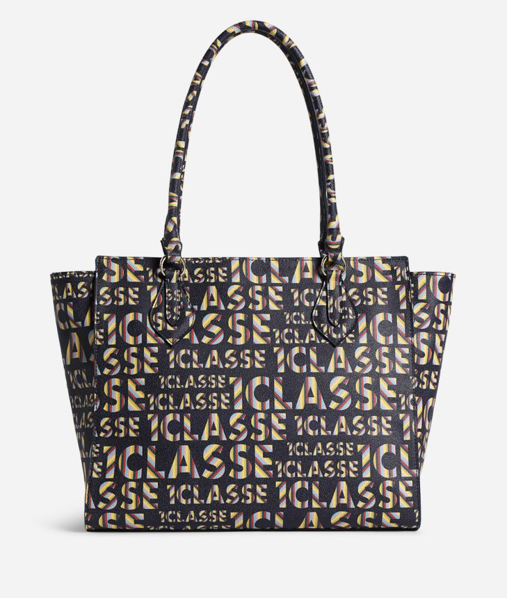 Logo Power Shopping Bag all-over 1a Classe logo print Midnight Blue,front