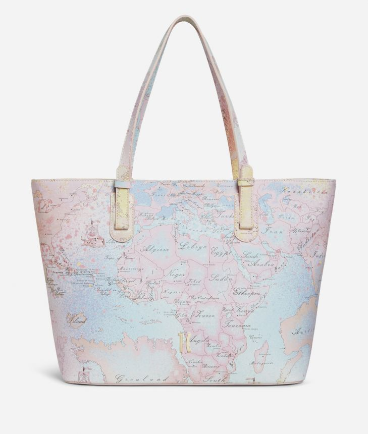 Colorful Geo large Shopping Bag Geo Multicolor print,front