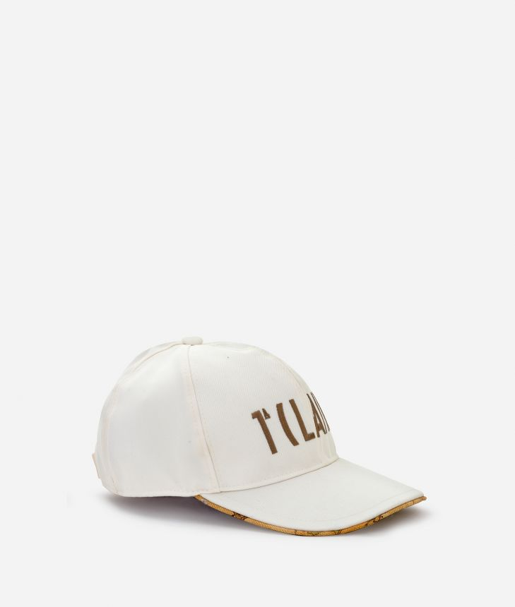 Women's Baseball Cap with logo 1a Classe and Geo Classic underwing Off white,front