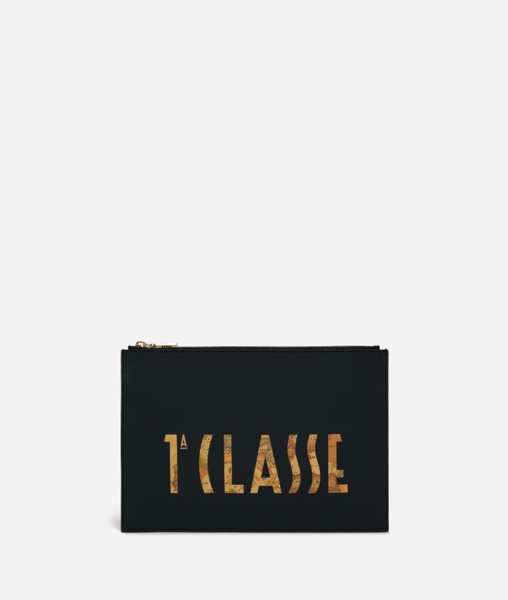 Summer Vibes Pouch with maxi logo 1a Classe Black,front