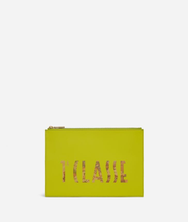 Summer Vibes Pouch with maxi logo 1a Classe Lime Green,front