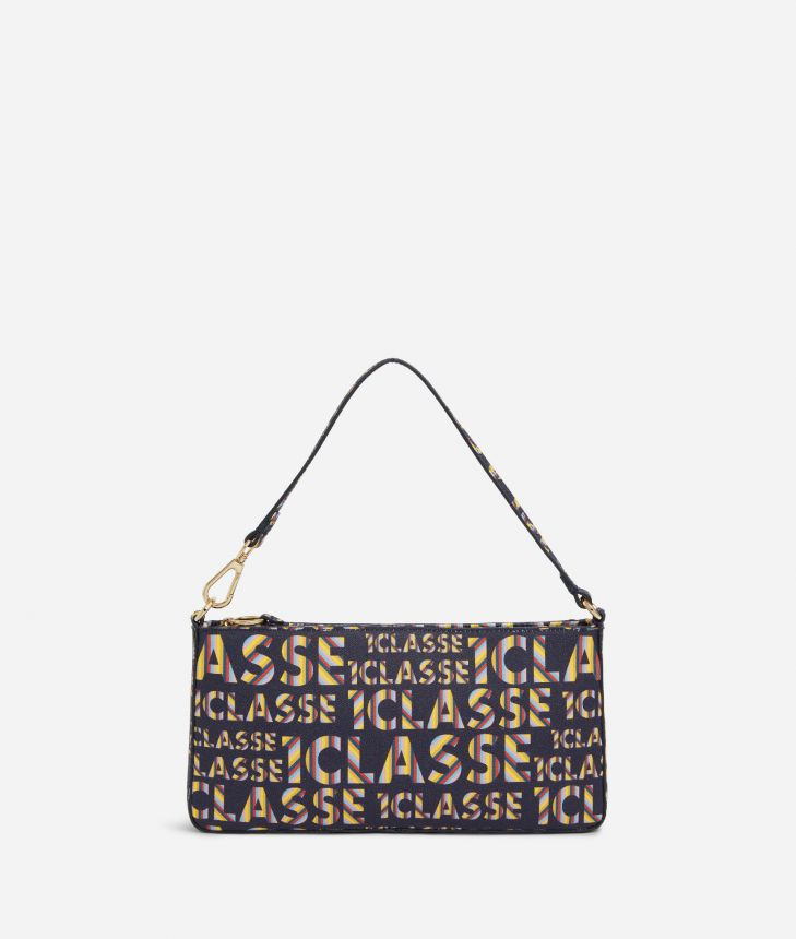 Logo Power Pochette with all-over 1a Classe logo print Midnight Blue,front