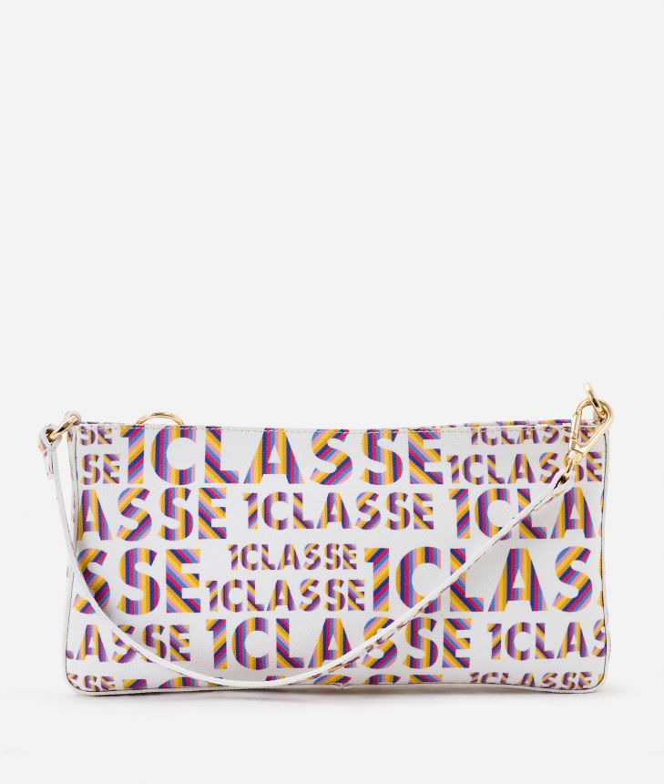 Logo Power Pochette with all-over 1a Classe logo print White,front