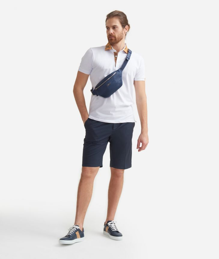 Shorts in cotone Blu,front