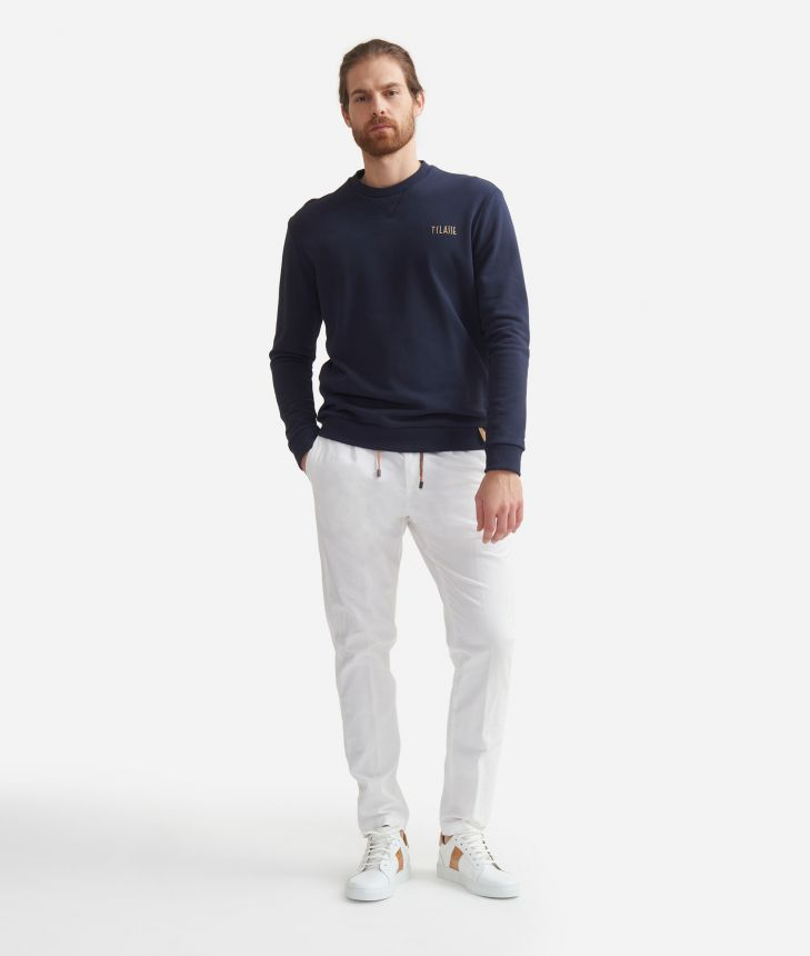 Baggy pants in cotton White,front