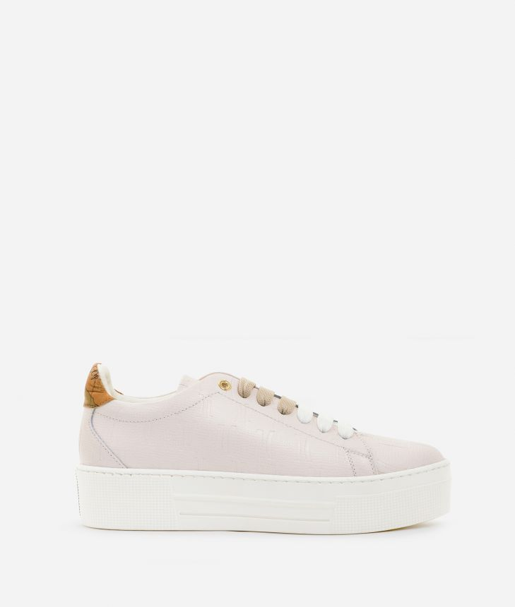 Sneakers in leather with 1C impression White,front