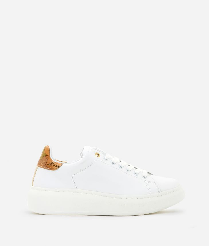 Sneakers in smooth leather White,front