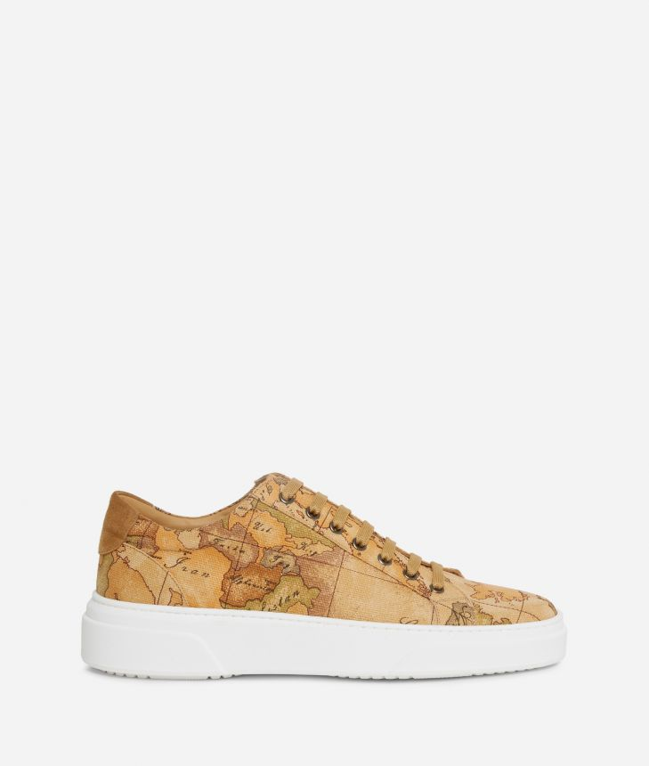 Man Sneakers in Geo Classic print canvas,front