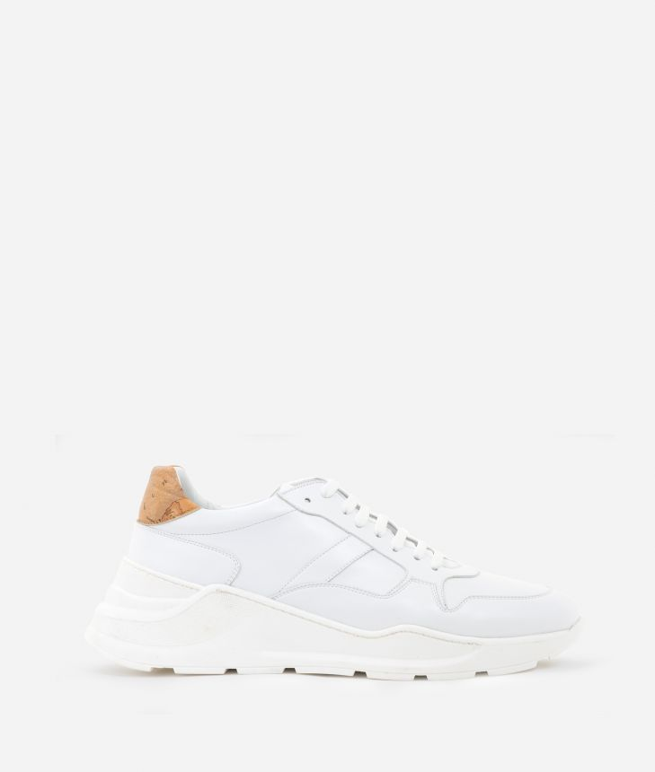 Sneakers in eco-leather White,front