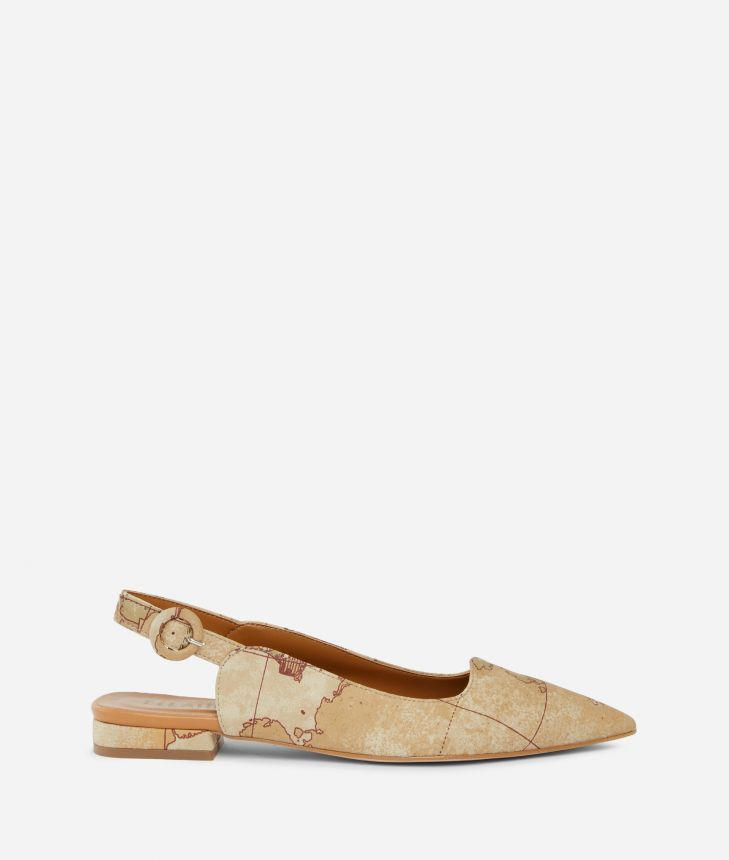 Exclusive Online Slingback in Geo Classic print nabuk,front