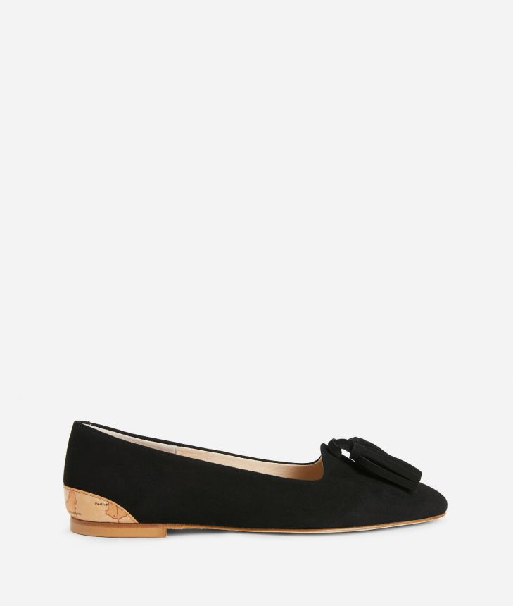 Online Exclusive Mocassins in suede leather Black,front