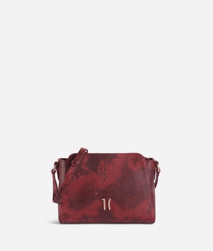 Geo Rouge shoulder bag in Geo Merlot fabric,front