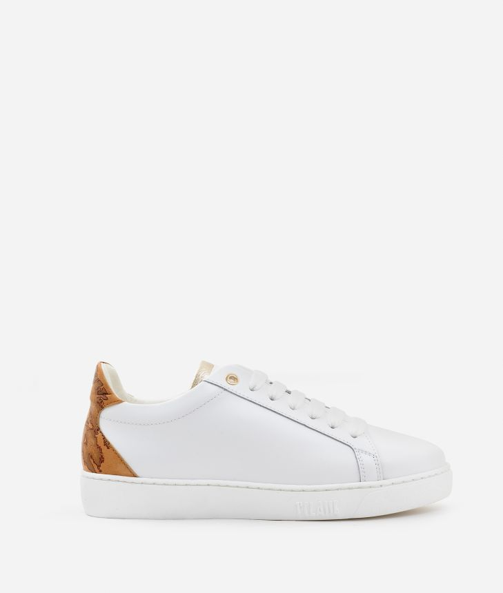 Sneakers in smooth cowhide leather White,front