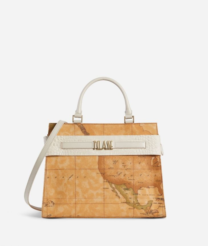 Stylish Bag Handbag in Geo Classic fabric,front