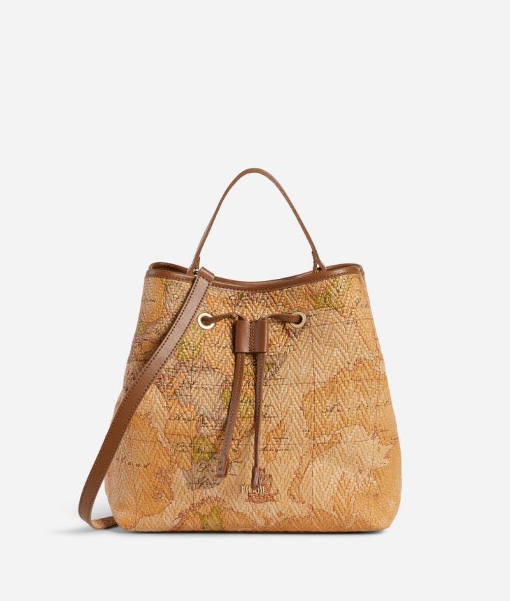 Stylish Bag Secchiello in nappa stampa Geo,front