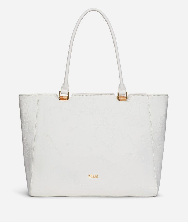 Dream Geo Shopping bag White,front