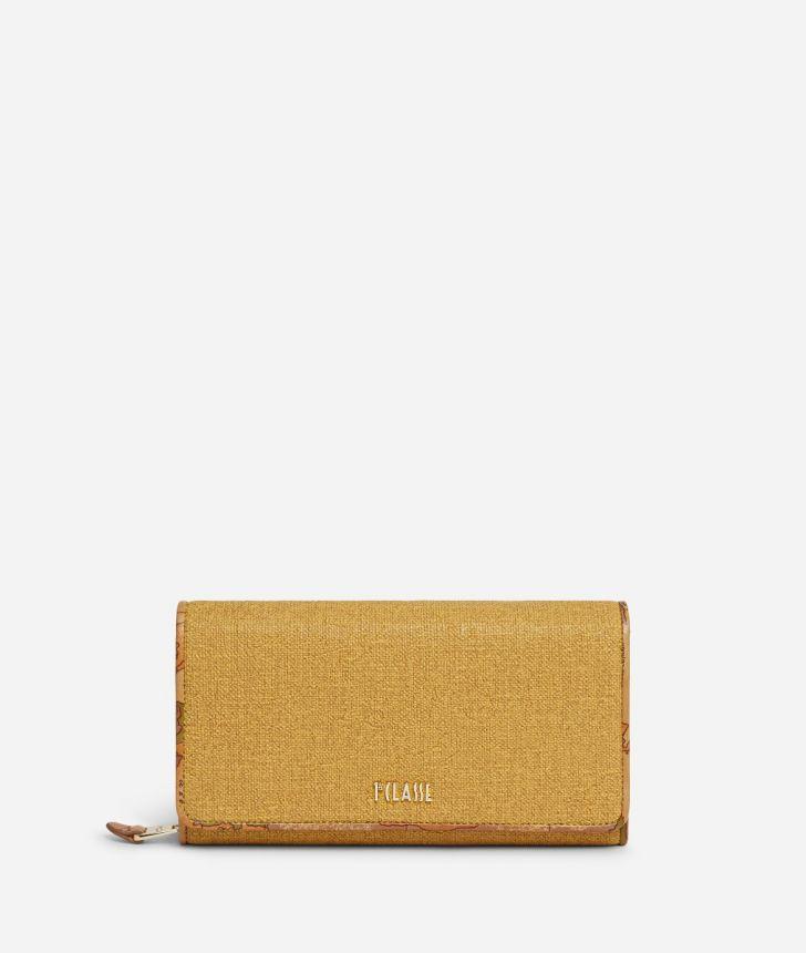 Dream Geo Woman's wallet Grain Yellow,front
