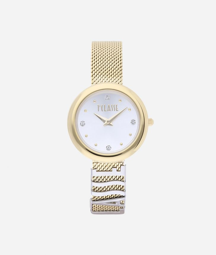 Antigua Bicolor stainless steel watch Gold and Silver,front