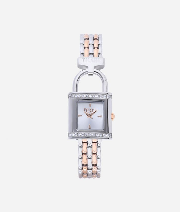 Bali Bicolor stainless steel watch Silver and Rose Gold,front