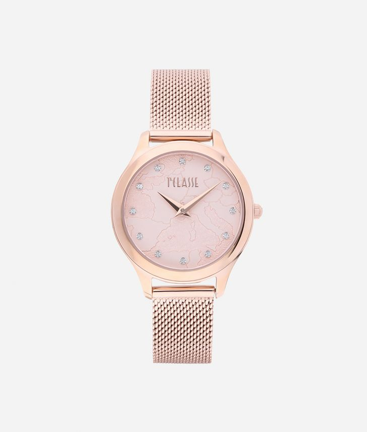 Ischia Stainless steel watch Rose Gold,front