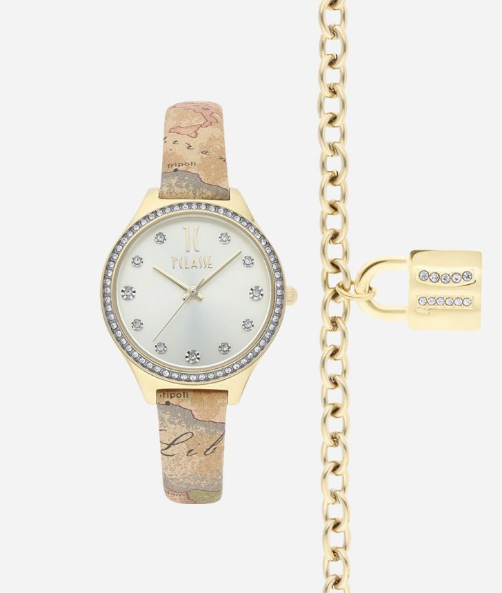 Special Edition Watch with Geo Classic print leather strap and bracelet,front