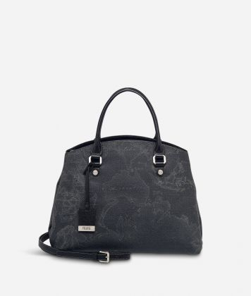 Geo Black Medium bag with strap