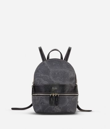 Geo Black Small backpack with logo
