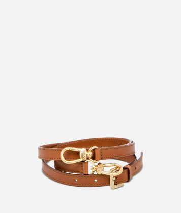 Adjustable strap in tan leather