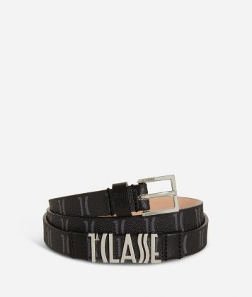 Monogram Woman Belt Black