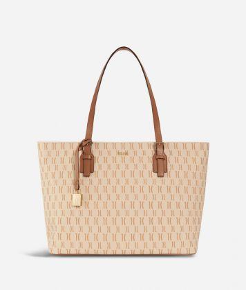 Monogram Big Shopping Bag Cream