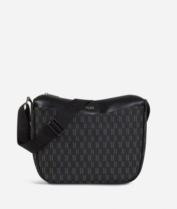 Monogram Half-moon Bag Black